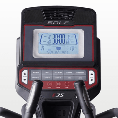 SOLE E35 elliptical monitor