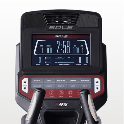 SOLE E95 elliptical monitor