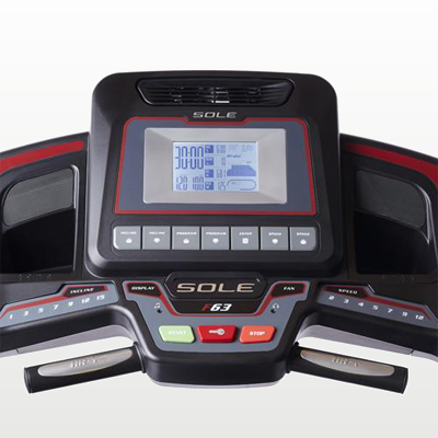 SOLE Fitness F63 Treadmill monitor