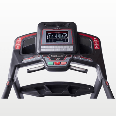 SOLE Fitness F85 Treadmill console