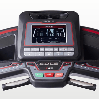 SOLE Fitness F85 Treadmill monitor