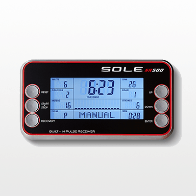 SOLE SR500 rower monitor