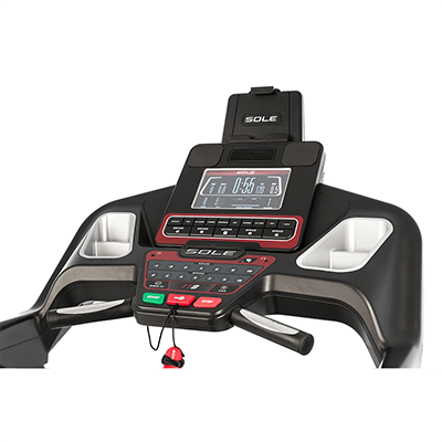 Sole Fitness TT8 treadmill console.