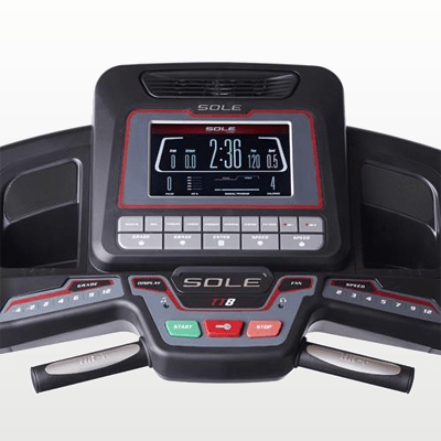 SOLE Fitness TT8 Treadmill monitor