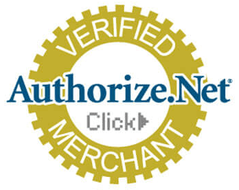 Authorize.net verified merhcant logo.